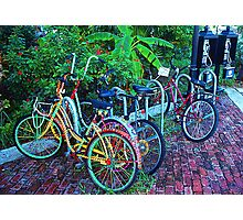 Key West bicycles Photographic Print