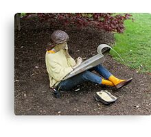 Sketching Under The Red Maple (Close-up) Canvas Print