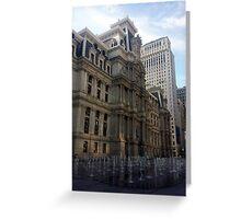 Dillworth Plaza Center City Philadelphia Greeting Card