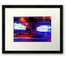 Hookah Bar at Night Framed Print
