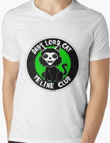 Dark Lord Cat Feline Club Mens V-Neck T-Shirt
