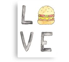 Love Burgers Canvas Print