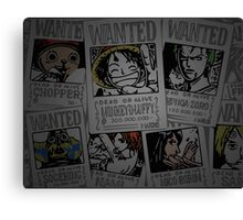 One Piece- straw hat wanted posters Canvas Print