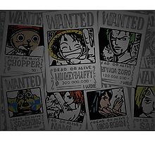 One Piece- straw hat wanted posters Photographic Print