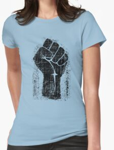 Dirt Fist Grunge Distressed Style Womens Fitted T-Shirt