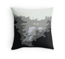 Deco Black and Grey Throw Pillow