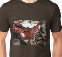 Coolest Orange Red Fungi on Cardboard Unisex T-Shirt