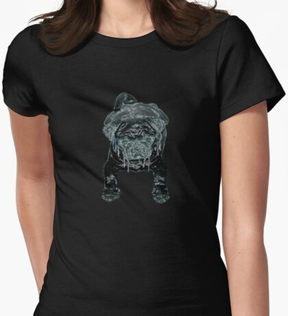"""""""IceY Pug"""" Womens Fitted T-Shirt"""