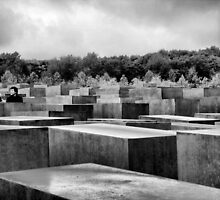 Memorial to the murdered Jews of Europe, Berlin by Eyal Geiger
