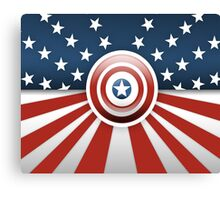Captain America - Heroes Of U.S.A Canvas Print