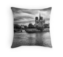 Notre Dame from the Seine Throw Pillow