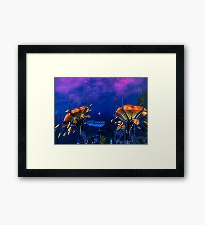 Psychadellic Mushrooms of the Shivering Isles Framed Print