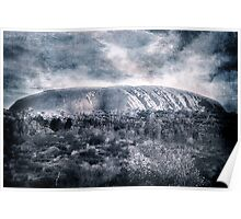 Uluru Blue Poster