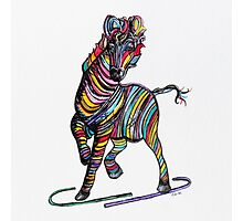 Kaleidoscope Zebra - Baby, Strut Your Stuff Photographic Print