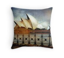 Sails aglow Throw Pillow