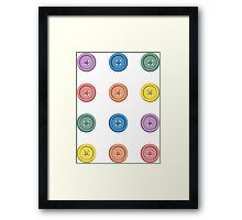 Buttons mini stickers Framed Print