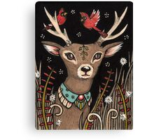 The Smallest Stag Canvas Print