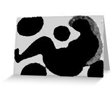 Women Sitting Black/White Greeting Card