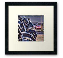 Bokeh Bikes Framed Print