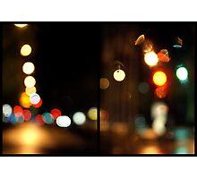 Avenue Bokeh Photographic Print