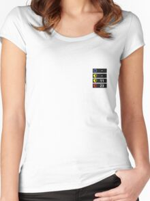 Reflex Item Timers Women's Fitted Scoop T-Shirt