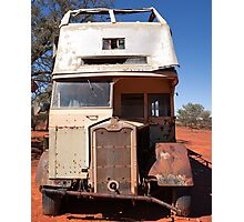 Abandoned Old Sydney Bus Photographic Print