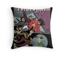 Italian Spiderman comic cover Throw Pillow