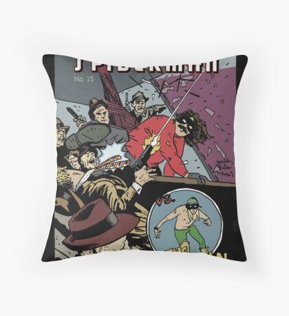 Italian Spiderman comic cover Throw Pillow