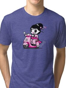 Scooter Geisha Tri-blend T-Shirt