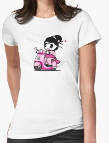 Scooter Geisha Womens Fitted T-Shirt