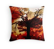 burning oak Throw Pillow