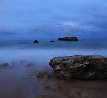 Dawn Breaks on Rocky Beach - Portugal by little-em