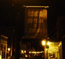 Virginia City Nevada ~ After Dark On The Boardwalk Sticker