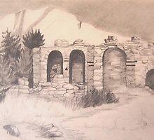 Kastro Potami, Samos, Gr. by JANET SUMMERS