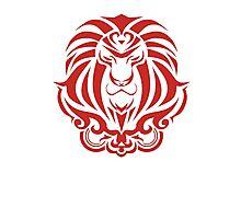 Zodiac Sign Leo Red Photographic Print