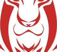 Zodiac Sign Leo Red Sticker