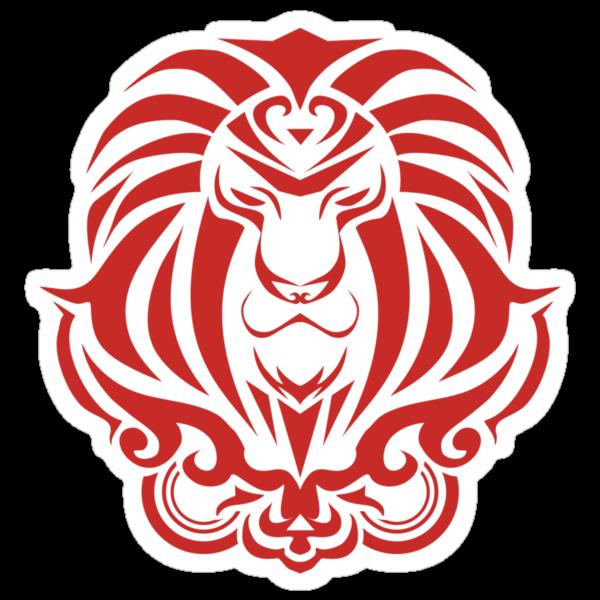 Zodiac Sign Leo Red by elangkarosingo