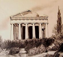 Parthenon, Athens by JANET SUMMERS