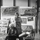 Artist Selby Warren & Wife in his gallery, Abercrombie Caves, NSW.  by C J Lewis