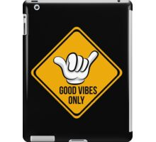 Good Vibes - Cool surf Fingers iPad Case/Skin