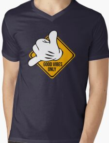 Good Vibes - Hang Loose Fingers Mens V-Neck T-Shirt