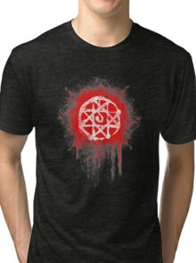 FMA. Alphonse Elrick blood sign. Fullmetal Alchemist. Tri-blend T-Shirt