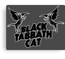 black tabbath cat Canvas Print