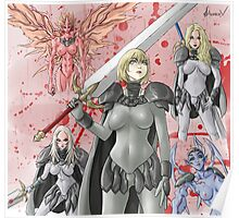 Claymore Clare Fan Art Poster