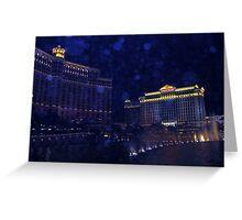 Night Time in Vegas, orbs Greeting Card