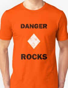 Danger Rocks Nautical Signage T-Shirt