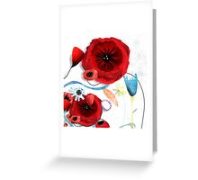 Beautiful wedding flowers Greeting Card
