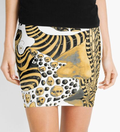 Multi-faceted Personality Mini Skirt