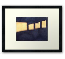 Marching Light Spaces (or maybe Advancing Shadow Spaces) Framed Print