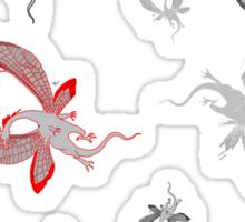 Many Dragons Flying Sticker